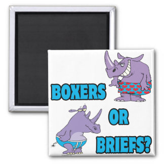boxers or briefs funny undies rhinos square magnet