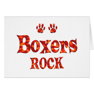 Boxers Rock Card
