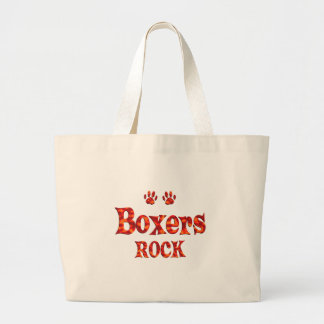Boxers Rock Large Tote Bag