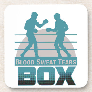 boxers sparring coaster