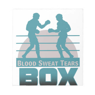 boxers sparring notepad