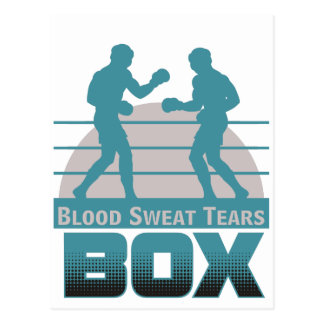 boxers sparring postcard