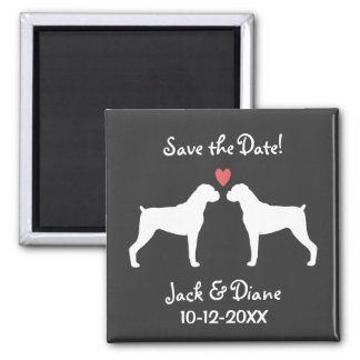 Boxers Wedding Save the Date Magnet