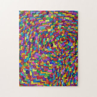 Boxes Dots One Multicolor Abstract Jigsaw Puzzle