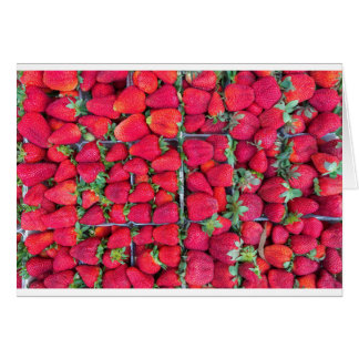 Boxes filled with red strawberries card