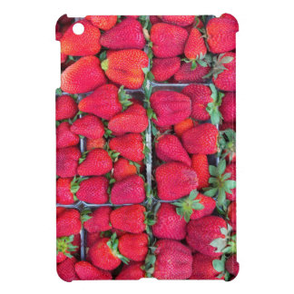 Boxes filled with red strawberries case for the iPad mini