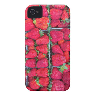 Boxes filled with red strawberries iPhone 4 Case-Mate case