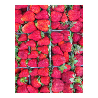 Boxes filled with red strawberries letterhead