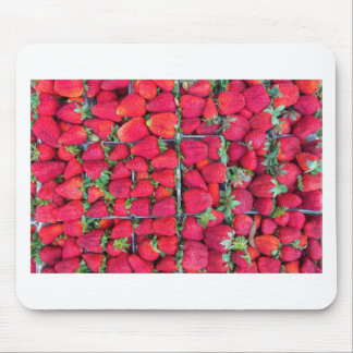 Boxes filled with red strawberries mouse pad