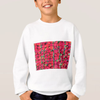 Boxes filled with red strawberries sweatshirt