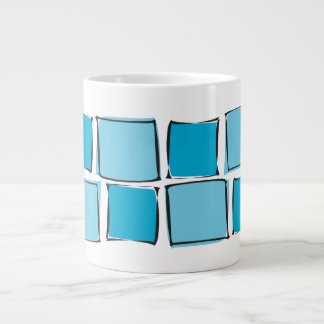 Boxes in Blue Large Coffee Mug