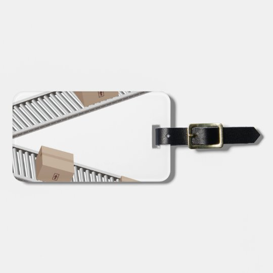 Boxes on a Conveyor Belt Luggage Tag