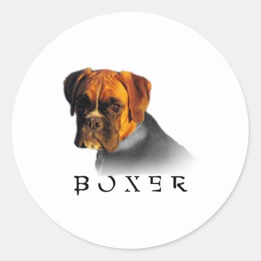 Boxeur Adhésifs Ronds