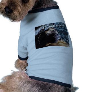 Boxeur Lunettes de soleil obtenues Tee-shirts Pour Toutous