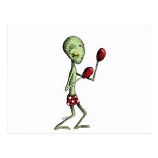 Boxing Alien Postcards