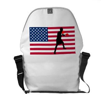 Boxing American Flag Messenger Bags