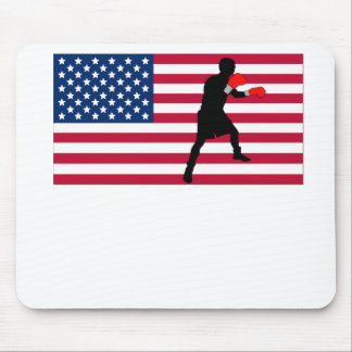 Boxing American Flag Mouse Pads