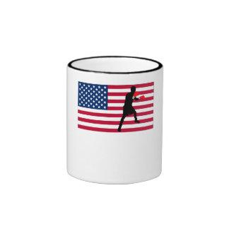Boxing American Flag Mugs