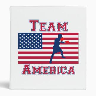 Boxing American Flag Team America Binders