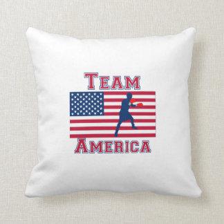 Boxing American Flag Team America Throw Pillow