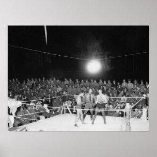 Boxing at Walter Reed, 1920s Poster