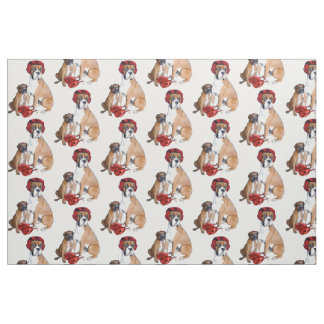 Boxing Boxer dog fabric