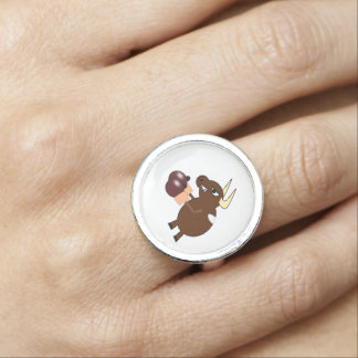 Boxing bull clipart photo rings