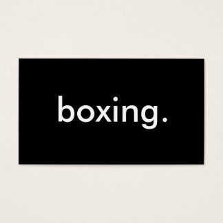 boxing. business card