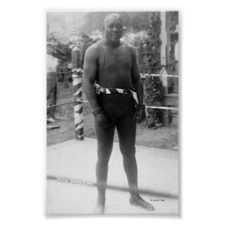 Boxing Champion Jack Johnson Poster