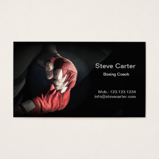 Boxing Coach Gloves Boxer Ring Sport Card