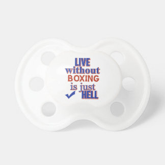 BOXING DESIGN BABY PACIFIER