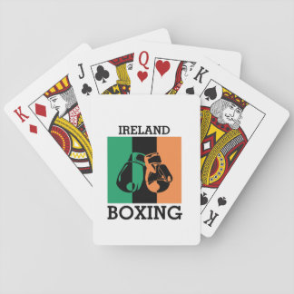 Boxing Fans Gift For Boxing Irish Mma Boxing Playing Cards