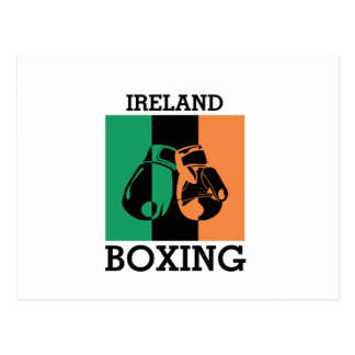 Boxing Fans Gift For Boxing Irish Mma Boxing Postcard