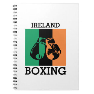 Boxing Fans Gift For Boxing Irish Mma Boxing Spiral Notebook