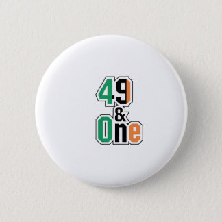 Boxing Fans Irish Forty-Nine And One (49 And 1) 2 Inch Round Button