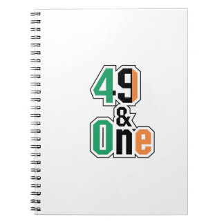 Boxing Fans Irish Forty-Nine And One (49 And 1) Notebook