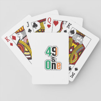 Boxing Fans Irish Forty-Nine And One (49 And 1) Playing Cards