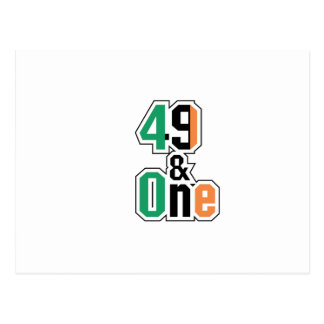 Boxing Fans Irish Forty-Nine And One (49 And 1) Postcard