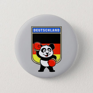Boxing Germany Panda 2 Inch Round Button