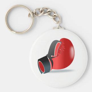 Boxing Glove Basic Round Button Keychain