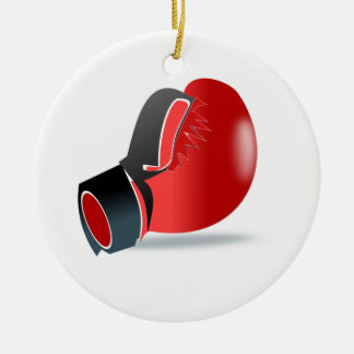 Boxing Glove Ceramic Ornament