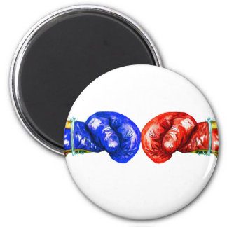 Boxing Gloves 2 Inch Round Magnet