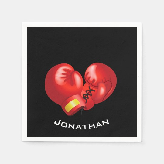 Boxing Gloves Design Paper Napkins