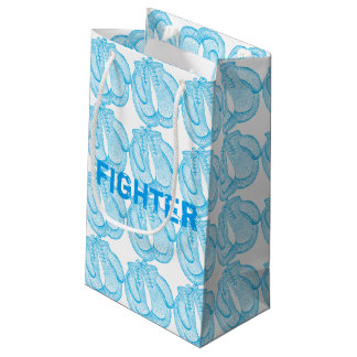 Boxing gloves - fighter - cancer small gift bag