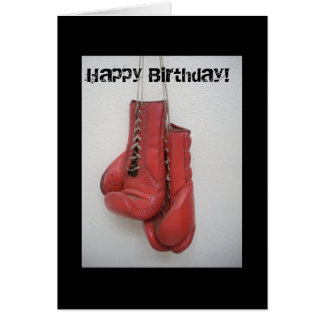 Boxing gloves Happy Birthday Card
