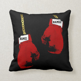 Boxing Gloves Personalized Throw Pillow
