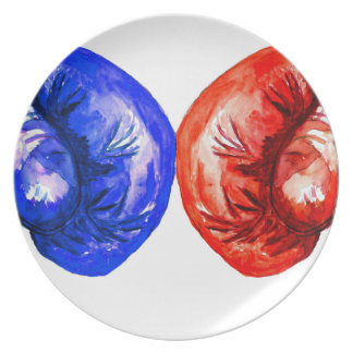 Boxing Gloves Plate