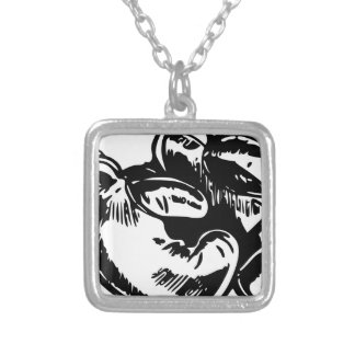 Boxing Gloves Silver Plated Necklace