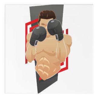 Boxing gym acrylic wall art