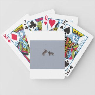 Boxing hares bicycle playing cards